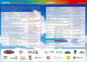 TrAction Crewe Festival Schedule of Events